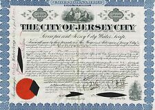 USA CITY OF NEW JERSEY 7% WATER BOND  stock certificate 1890's