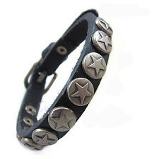 Kings & Lions Luxury quality genuine leather blue bracelet with buckle