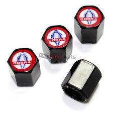 (4) Ford Mustang Cobra Logo Black ABS Tire/Wheel Stem Air Valve Car Caps Covers