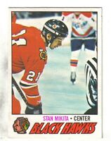 1977-78 O-Pee-Chee  Hockey Card #195  Stan Mikita Chicago Blackhawks ~  EX/MT