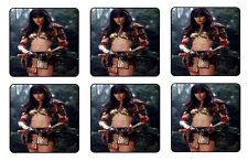 XENA COASTERS 1/4 BAR & BEER SET OF 6