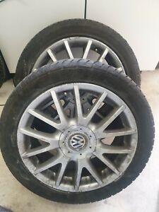 "VW GOLF MK5 17"" GT TDI  ALLOY WHEELS WITH PART WORN TYRES"