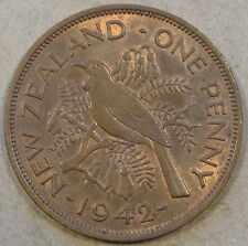 New listing New Zealand 1942 Penny Unc-Bu as Pictured