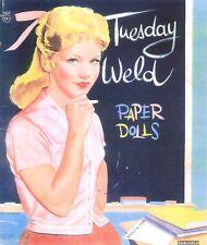 Vintge Uncut 1960s Tuesday Weld Paper Doll ~Laser Org Sz Reproductin Lo Pr Best
