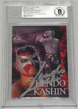 Kendo Kashin Signed 2000 Collecara New Japan Pro Wrestling Card #22 BAS COA Auto
