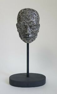 Lara Greene - Selkirk Scottish contemporary sculpture - Head on stand