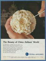 CHINA AIRLINES (CAL)  - 1987 Vintage Print Ad