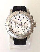 Puma Herren Uhr Gallant Chronograph schwarz weiß Silikon Datum PU103561002