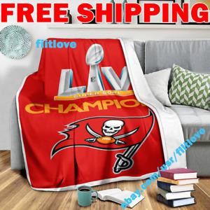Tampa Bay Buccaneers Super Bowl 55 LV NFL Champions Fleece Blanket Thin Quilt