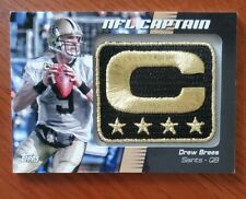 2012 Topps Drew Brees NFL Captain Patch #NCP-DB AWESOME🔥🔥🔥COLLECTABLE!