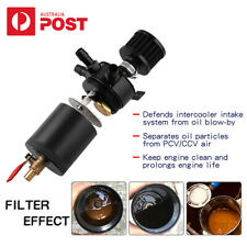 Universal 3-Port Oil Reservoir Catch Can Tank with Drain Valve Breather AU Ship