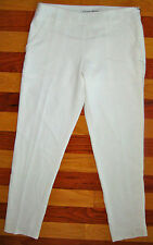 NEW TRINA TURK LADIES RISSA PANTS TROUSERS CREAM WHITE SILKY CREPE 2 SOLD OUT