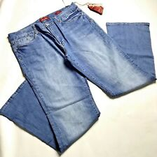 7 Seven Boot Blue Jeans Womens Size 16 Denim Stretch High Rise