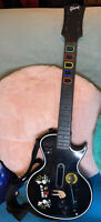 Guitar Hero Xbox 360 Gibson Les Paul And Rock Band Game Bundle - TESTED, GREAT!
