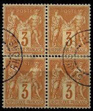 BLOC de 4 SAGE 86, Oblitérés = Cote 450 € / Lot Classiques France