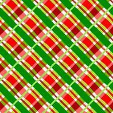 Jolly Holiday 2 Red and Green Plaid Quilt Fabric - Free Shipping - 1 Yard