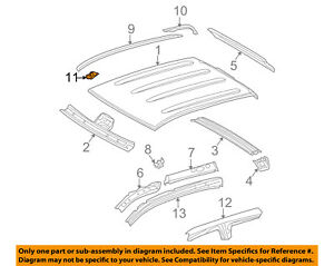 Toyota OEM Roof Drip Molding Clip 75561-02020 Factory Sold Individually Various
