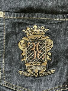 Billionaire Italian Couture Jeans Size 54 EU Dark Denim Blue Made in Italy