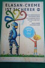 Pappschild - Werbung Reklame Elasan-Creme Germed Aufstellschild ca. 41,5 x 30 -Y