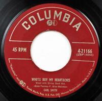 Carl Smith, Satisfaction Guaranteed - Who'll Buy My Heartaches, Columbia 21166