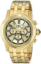 Invicta 19465 Specialty Men's Chronograph 50mm Gold-Tone Steel Gold Dial Watch
