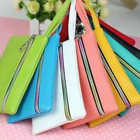 Women Card Holder Wallet Coin Purse Clutch Zipper Leather Small Change Bag Gifts