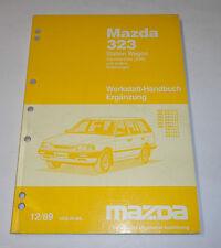 Werkstatthandbuch Mazda 323 Kombi Station Wagon 4 WD Allrad Typ BW, St. 12/1989