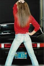 FOUND PHOTO Of A Girl Wearing Jeans COLOR Original Portrait PORSCHE Car 910 6 O