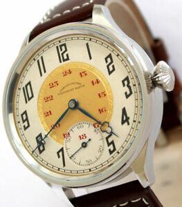 Superb Chronometre Corgemont JUMBO swiss ANTIKE Mariage ARMBANDUHR ca.1920