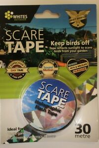 30m Bird Crow Pest Scare Repellent Reflective Holographic Flash Motion Line Tape