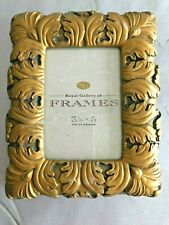 """One Royal Gallery Of Frames Rustic Gold Frame 7.5"""" X 6"""" Holds 3"""" X 4.5"""" Picture"""
