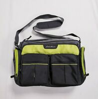 Eddie Bauer Diaper Bag Unisex Gray Green Adjustable Strap Multi-Pocket Insulated