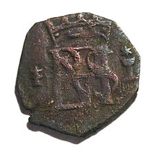 1566-1598AD Spain, King Philip II - Blanca, 24% Silver, Lot# 53 - 16mm