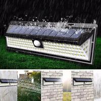 Solar Accionado 118 LED Sensor de Seguridad Lámpara Interior Luz Movimiento Pir