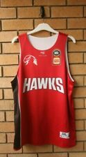 ILLAWARRA HAWKS FIRST EVER REVERSIBLE NBL BASKETBALL SINGLET SIZE 2XL XXL