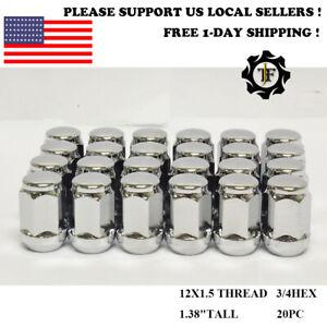 20PC FOR MAZDA 3 5 CX9 CX5 CX7 LUG NUTS BULGE ACORN 12X1.5 CHROME 3/4'' HEX