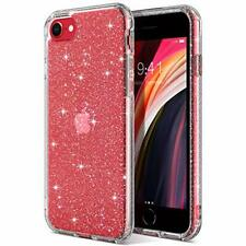 ULAK iPhone SE 2020 Case, Clear Glitter Soft TPU Bumper Cover Anti-Scratch &