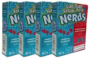 4x Nestle Surf & Turf Tropical Punch And Rasberry Nerds 46.7g American Sweets