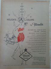 1959 women's Formfit  Skippies red girdle strapless bandeau bra 388 vintage ad