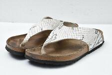 BIRKI'S Birkenstock Birko Flor Womens 39 L8 Comfort Snake Print Thong Sandals