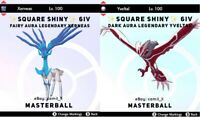 POKEMON SWORD AND SHIELD ✨SHINY✨ 6IV LEGENDARY XERNEAS + YVELTAL (FAST DELIVERY)
