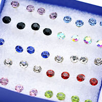 Super cute bundle. 20 pairs of mixed colour 5mm crystal stud earrings