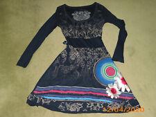 Kleid Desigual Gr. S  34/36 Blau bunt Langarm