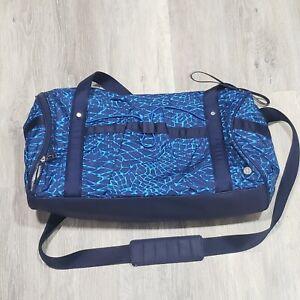 NWOT Lululemon Run Ways Duffel Bag Salsa Snake Kayak Blue Hero Shoe Bag Included