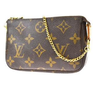 Auth Louis Vuitton Mini Pochette Accessoires Hand Bag Monogram M58009 34MI122