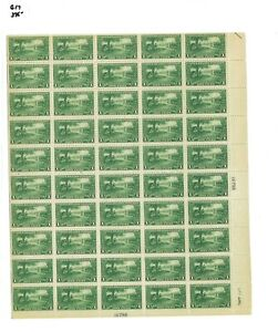 1925 United States Postage Stamp #617 Plate No. 16798 Mint Full Sheet