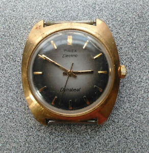 Vintage - Gold Timex Electric Dynabeat Watch - Gold Speidel Band Sold Separately