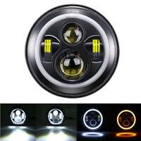 7Inch Black LED Headlight Projector for Honda Shadow VT VT1100 VT750 VF750 VT600