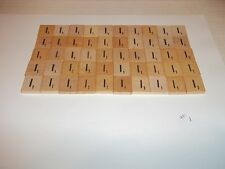 """Vintage Wooden Scrabble Tiles  50 """"I"""" Tiles  #1 With FREE Shipping!"""