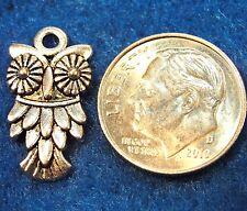 10Pcs. Tibetan Silver OWL Bird Charms Pendants Earring Drops Findings BD47